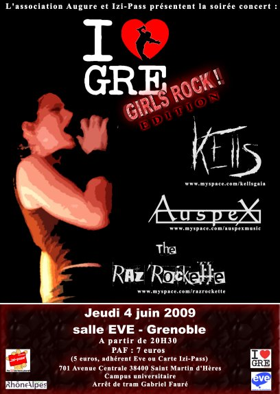 I GRE GIRLS ROCK EDITION @ St Martin d'Hères